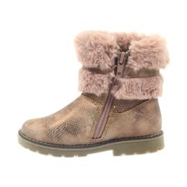 American Club Americké boty zimní boty s fur17042 hnědý žlutý růžový 2