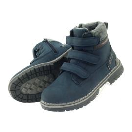 American Club Boty boty velcro 708121 šedá válečné loďstvo 4