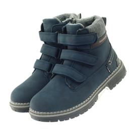 American Club Boty boty velcro 708121 šedá válečné loďstvo 3
