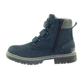 American Club Boty boty velcro 708121 šedá válečné loďstvo 2