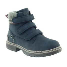 American Club Boty boty velcro 708121 šedá válečné loďstvo 1