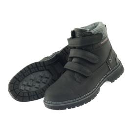 American Club Boty boty velcro 708121 černá šedá 4