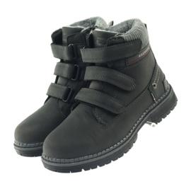 American Club Boty boty velcro 708121 černá šedá 3