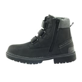 American Club Boty boty velcro 708121 černá šedá 2