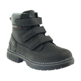 American Club Boty boty velcro 708121 černá šedá 1