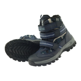 American Club Americké boty zavádějí zimní boty 87433 navy blue bílá černá válečné loďstvo 4