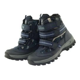 American Club Americké boty zavádějí zimní boty 87433 navy blue bílá černá válečné loďstvo 3