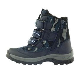American Club Americké boty zavádějí zimní boty 87433 navy blue bílá černá válečné loďstvo 2