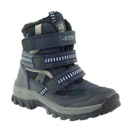 American Club Americké boty zavádějí zimní boty 87433 navy blue bílá černá válečné loďstvo 1