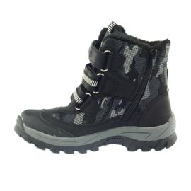 American Club Americké boty zavádějí zimní boty 87433 černé bílá černá šedá 2