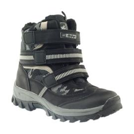 American Club Americké boty zavádějí zimní boty 87433 černé bílá černá šedá 1