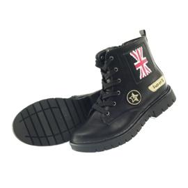 American Club Super zimní boty amerických pracovníků černá žlutý červená 5