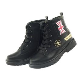 American Club Super zimní boty amerických pracovníků černá žlutý červená 4