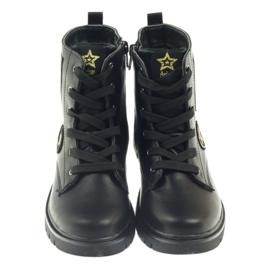 American Club Super zimní boty amerických pracovníků černá žlutý červená 3