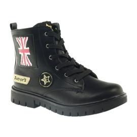 American Club Super zimní boty amerických pracovníků černá žlutý červená 1