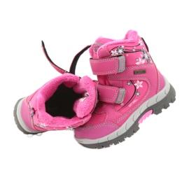 American Club Americké zimní boty s membránou 3121 růžový 4