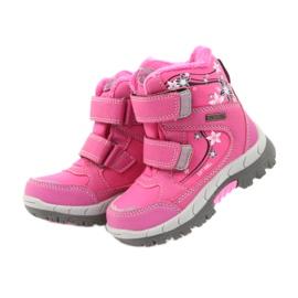 American Club Americké zimní boty s membránou 3121 růžový 3