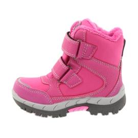 American Club Americké zimní boty s membránou 3121 růžový 2