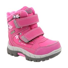 American Club Americké zimní boty s membránou 3121 růžový 1