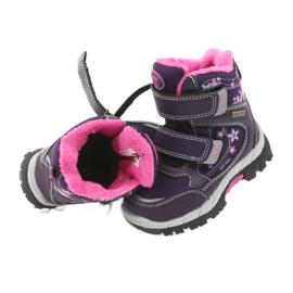 American Club Americké boty zimní boty s membránou 3121 nachový 5