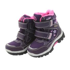 American Club Americké boty zimní boty s membránou 3121 nachový 4