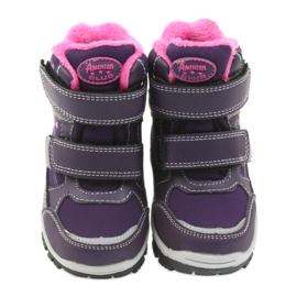 American Club Americké boty zimní boty s membránou 3121 nachový 3