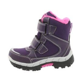American Club Americké boty zimní boty s membránou 3121 nachový 2