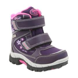 American Club Americké boty zimní boty s membránou 3121 nachový 1