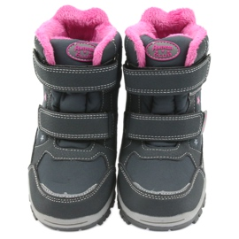 American Club Americké boty zimní boty s membránou 3121 šedá růžový 3