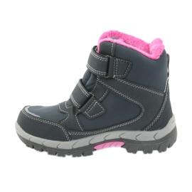 American Club Americké boty zimní boty s membránou 3121 šedá růžový 2