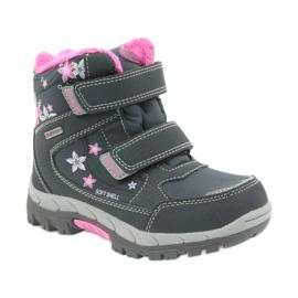 American Club Americké boty zimní boty s membránou 3121 šedá růžový 1