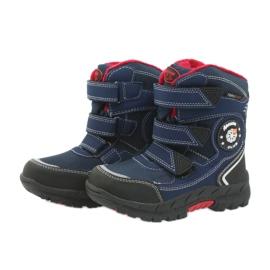 American Club Americké boty zimní boty s membránou 0926 černá červená válečné loďstvo 4