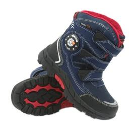 American Club Americké boty zimní boty s membránou 0926 černá červená válečné loďstvo 3