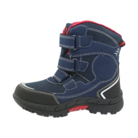 American Club Americké boty zimní boty s membránou 0926 černá červená válečné loďstvo 2