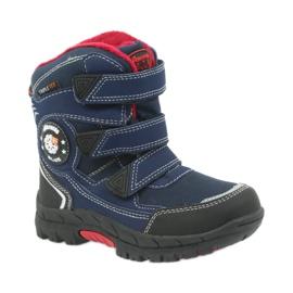 American Club Americké boty zimní boty s membránou 0926 černá červená válečné loďstvo 1