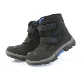 American Club Americké boty zimní boty s membránou 3123 černá modrý 4