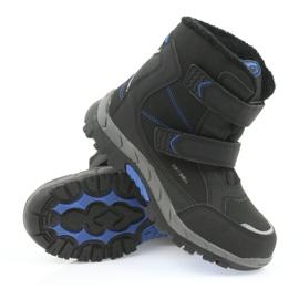 American Club Americké boty zimní boty s membránou 3123 černá modrý 3