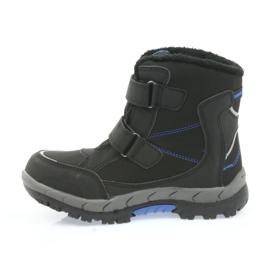 American Club Americké boty zimní boty s membránou 3123 černá modrý 2
