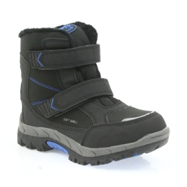 American Club Americké boty zimní boty s membránou 3123 černá modrý 1