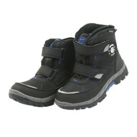 American Club Americké boty zimní boty s membránou 1122 černá modrý 5