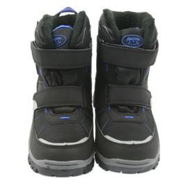 American Club Americké boty zimní boty s membránou 1122 černá modrý 4