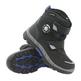 American Club Americké boty zimní boty s membránou 1122 černá modrý 3