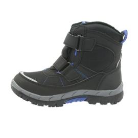 American Club Americké boty zimní boty s membránou 1122 černá modrý 2