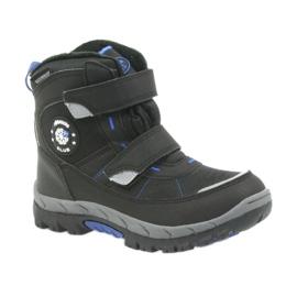 American Club Americké boty zimní boty s membránou 1122 černá modrý 1