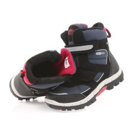 American Club Americké boty zimní boty s membránou 1813 černá červená válečné loďstvo 4