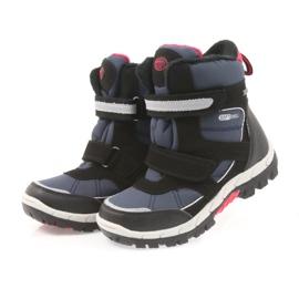American Club Americké boty zimní boty s membránou 1813 černá červená válečné loďstvo 3
