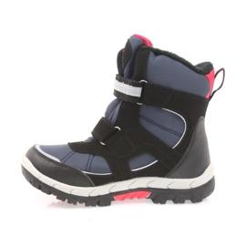 American Club Americké boty zimní boty s membránou 1813 černá červená válečné loďstvo 2