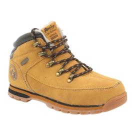 American Club Americké boty zimní boty 152619 velbloud vícebarevný 1
