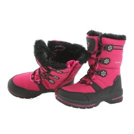 American Club Americké zimní boty s membránou 702SB černá růžový 4