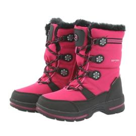 American Club Americké zimní boty s membránou 702SB černá růžový 3